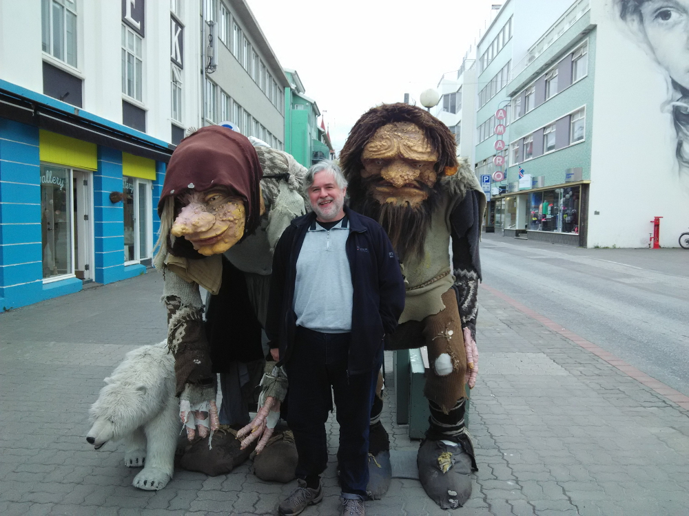 Drei Trolle in Akureyri
