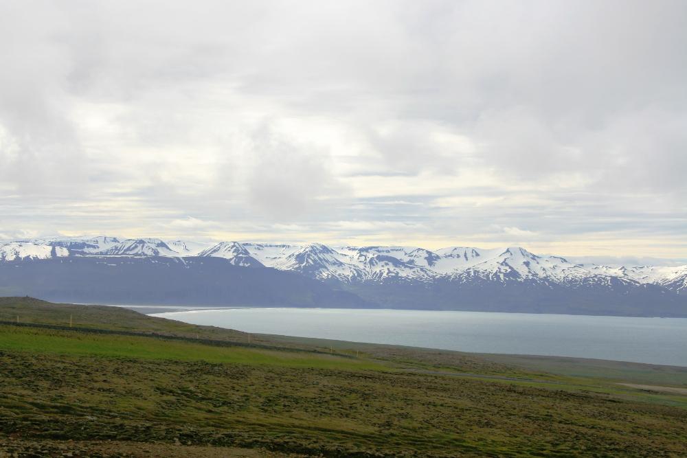 Aussicht auf die Bucht Skjálfandi