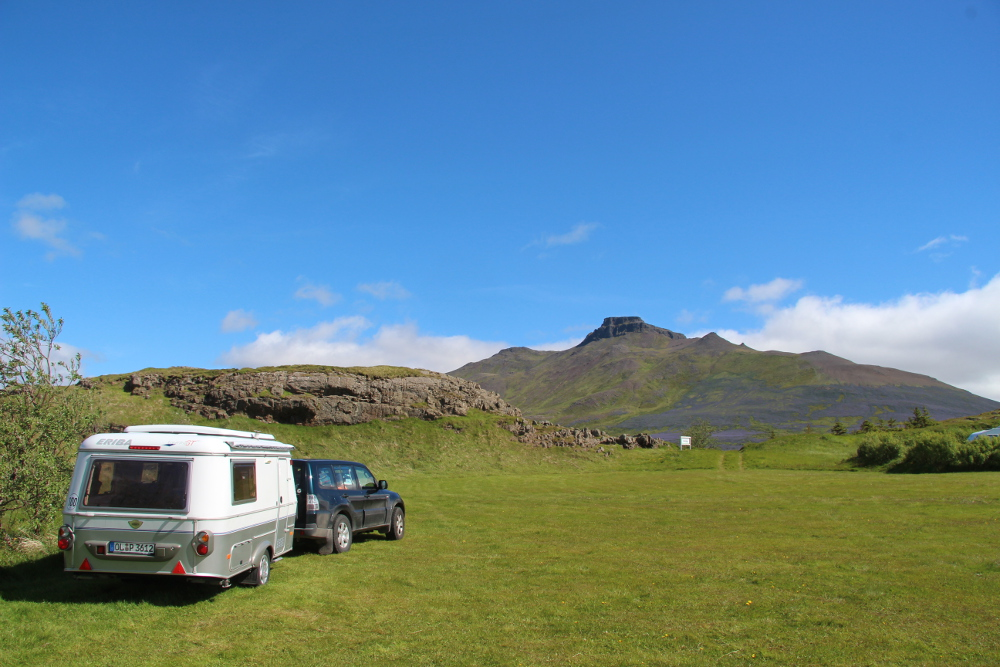 Campingplatz mit Spákonufell