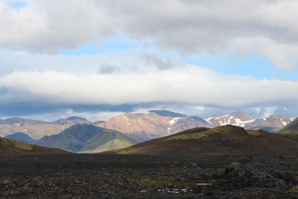 Bunte Berge Richtung Landmannalaugar