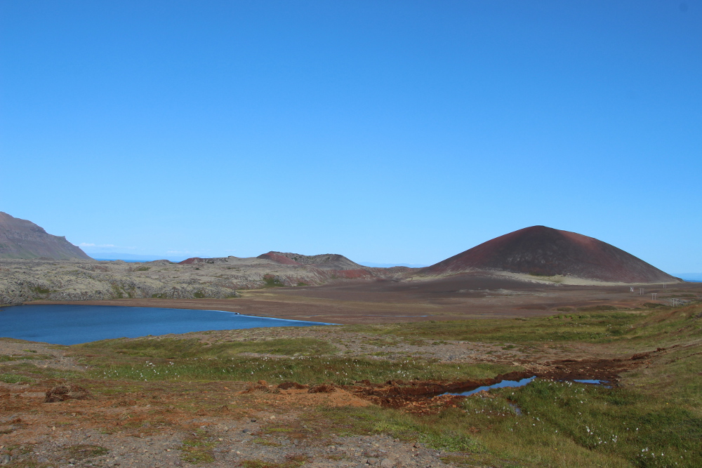Berge, Seen, Lava auf Snæfellsnes