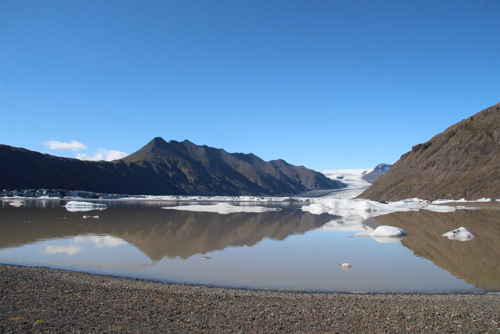 Heinabergsjökull mit Gletscherlagune