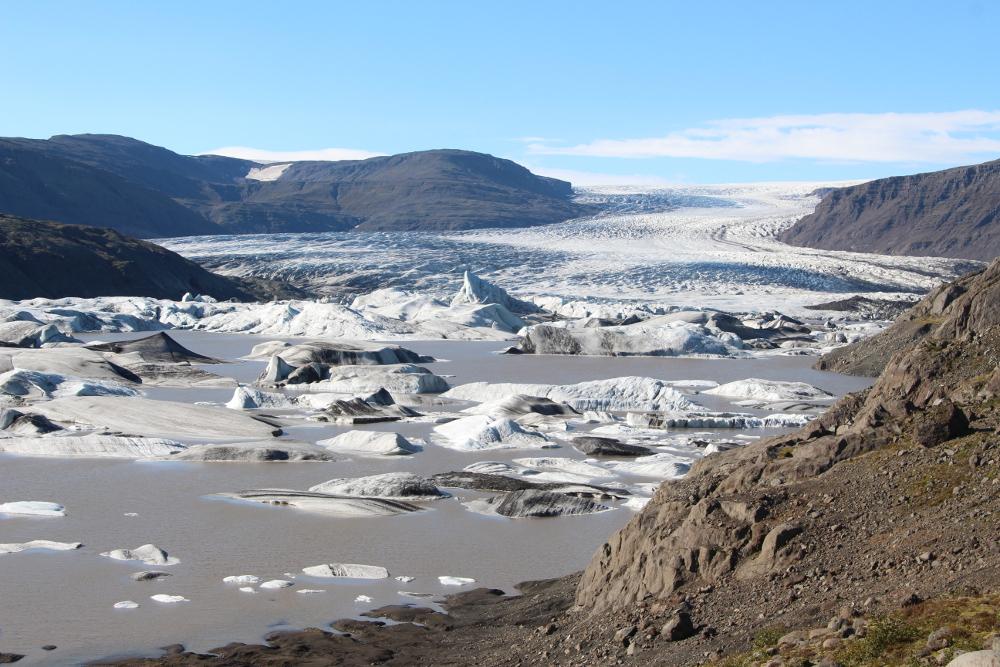 Hoffellsjökull mit Gletscherlagune