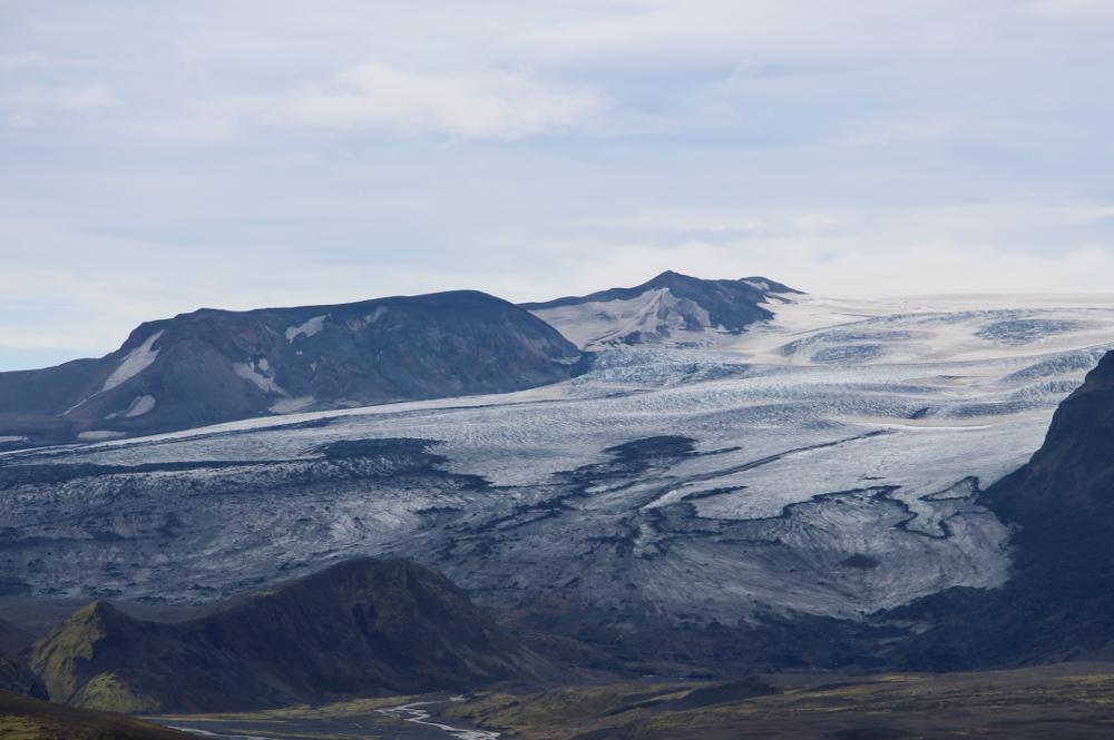 Gletscher in Schwarz-Weiß