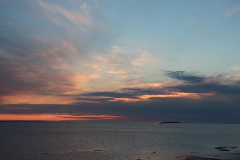 Sonnenuntergang bei Setberg